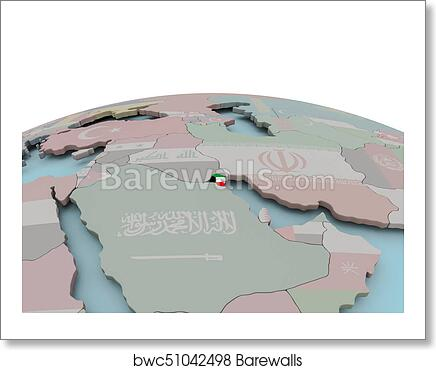 Political map of Kuwait on globe with flag art print poster on cameroon world map, belgium world map, iceland world map, jordan world map, qatar world map, netherlands world map, mauritius world map, iraq world map, switzerland on world map, palestine world map, tehran world map, fiji world map, nigeria world map, afghanistan map, israel map, singapore world map, vietnam world map, syria world map, turkey world map, cuba world map,
