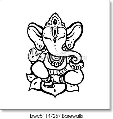 Hindu God Ganesha Art Print Poster
