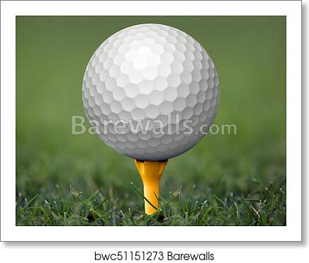 Golf Ball On Tee Art Print Barewalls Posters Prints Bwc51151273