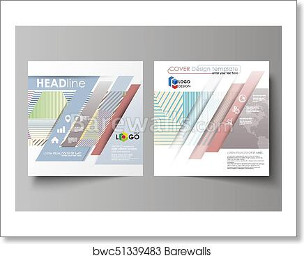 Leaflet Cover Abstract Vector Layout Minimalistic Design With Lines Geometric Shapes Forming Beautiful Background Art Print Of Business Templates