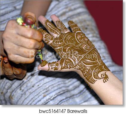 Art Print Of Henna Tattoo On Hands Barewalls Posters Prints