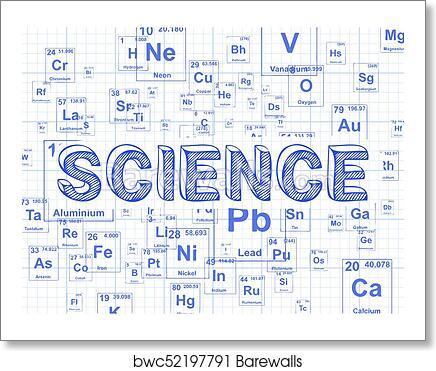 art print of science element graph paper background barewalls
