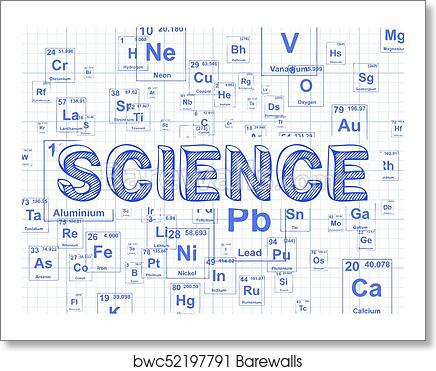 art print of science element graph paper background barewalls