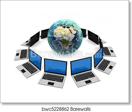 Art Print of Computer Network | Barewalls Posters & Prints | bwc5228862