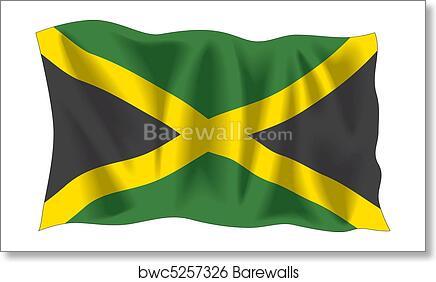 Jamaican Flag Art Print Barewalls Posters Prints Bwc5257326