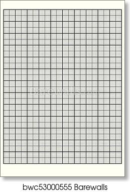 picture about Engineering Paper Printable named Technological innovation graph paper Printable Graph Paper vector artwork print poster
