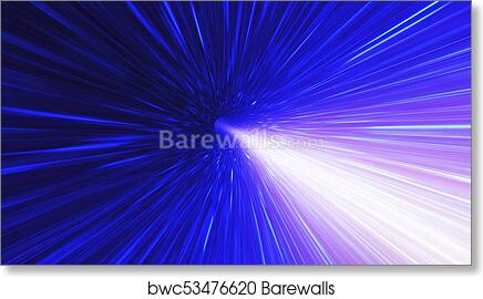 Art Print of High energy particles traveling through space-time. Singularity gravitational waves and spacetime concept & Art Print of High energy particles traveling through space-time ...