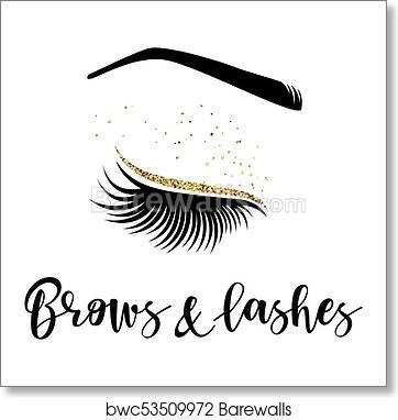 12f8faf7d5f Brows and lashes logo, Art Print | Barewalls Posters & Prints ...