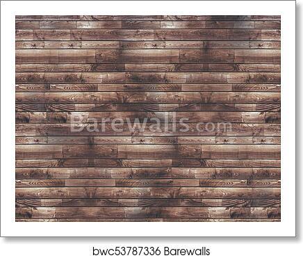 Reclaimed Wood Planks Wall Art Print Poster