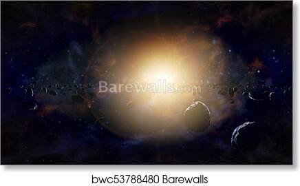 Asteroid Belt Concept Art