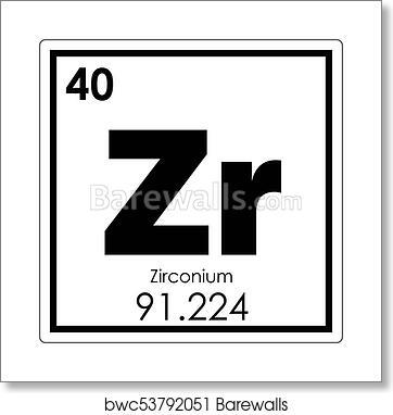 Art print of zirconium chemical element barewalls posters prints art print of zirconium chemical element urtaz Images