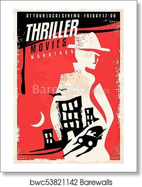 Creative Poster Design For Thriller Movie Show Art Print Poster