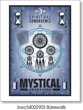 Art Print Of Vintage Colored Mystic Poster