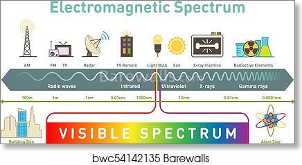 Block diagram of electromagnetic spectrum easy to read wiring art print of electromagnetic spectrum infographic diagram rh barewalls com em spectrum diagram simple spectral diagram ccuart Images