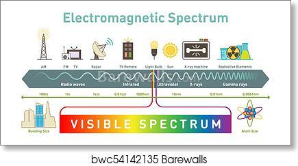 Cool Electromagnetic Spectrum Infographic Diagram Art Print Barewalls Wiring Database Plangelartorg