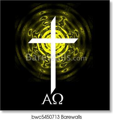 Art Print Of Alpha Omega Cross Barewalls Posters Prints Bwc5450713
