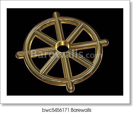 Art Print Of Buddhist Wheel Symbol Dharmachakra Barewalls