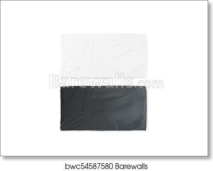 blank white beach towel. Art Print Of Blank Black And White Folded Soft Beach Towel Mockup Blank A