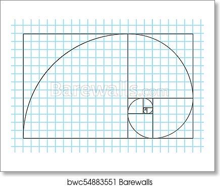 art print of golden ratio template vector divine proportions