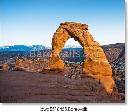 Art Print Of Delicate Arch Arches National Park Usa