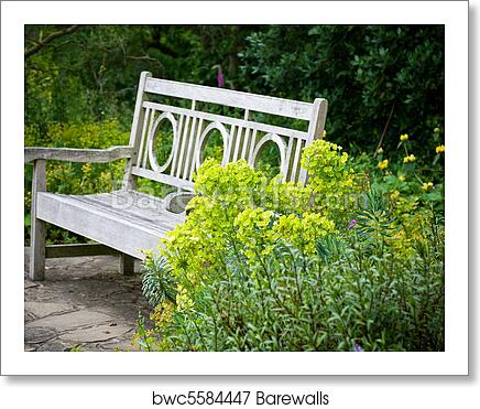 Remarkable Secret Garden Garden Bench Art Print Poster Andrewgaddart Wooden Chair Designs For Living Room Andrewgaddartcom