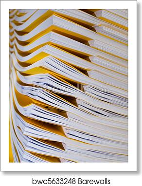 art print of stack of papers barewalls posters prints bwc5633248