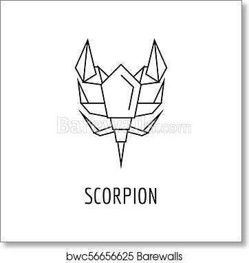 Wondrous Origami Scorpion Icon Outline Style Art Print Barewalls Posters Wiring 101 Capemaxxcnl