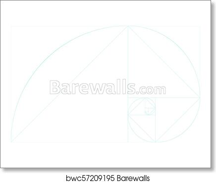 art print of golden ratio template blank with guides barewalls