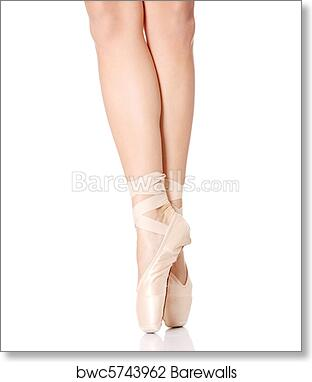 Detail Of Ballet Dancer S Feet Art Print Barewalls Posters Prints Bwc5743962