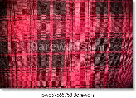 Leather Sofa Texture Seamless Background Red Upholstery Of A Sofa With Black Stripes Art Print Poster