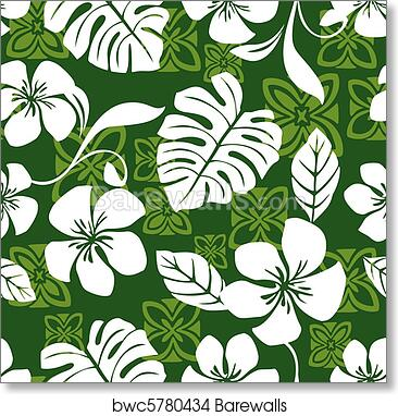 Art print of aloha friday hawaiian shirt pattern