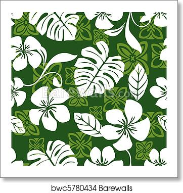 Art Print Of Aloha Friday Hawaiian Shirt Pattern Barewalls Posters Classy Hawaiian Pattern