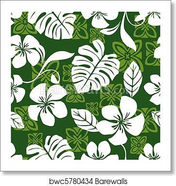 101324000 Aloha Friday Hawaiian Shirt Pattern, Art Print | Barewalls Posters ...