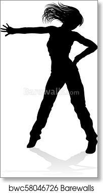 Street Dance Dancer Silhouette Art Print Barewalls Posters Prints Bwc58046726