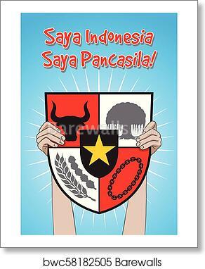 Indonesian Pancasila Day Art Print Barewalls Posters Prints