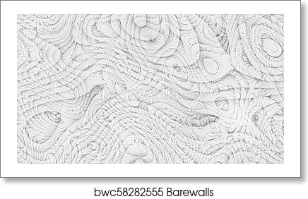 Abstract Curves Parametric Curved Lines And Shapes 4k Seamless Background Art Print Poster