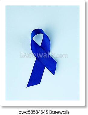 Blue Ribbon Awareness Colon Cancer Colorectal Cancer Child Abuse Awareness World Diabetes Day Art Print Barewalls Posters Prints Bwc58584345