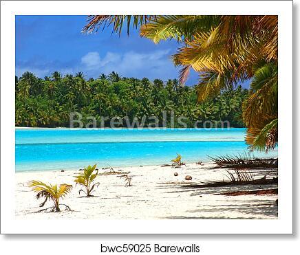 tropical beach scene art print canvas home decor wall art poster e ebay. Black Bedroom Furniture Sets. Home Design Ideas