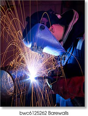 Mig Welding On Steel Tube Art Print Barewalls Posters Prints Bwc6125262