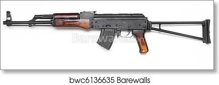 Well known AK-47 kalashnikov assault rifle  art print poster