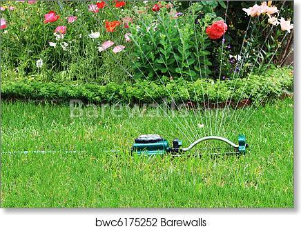 Charmant Art Print Of Watering Garden