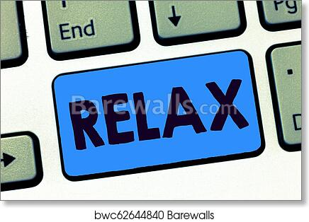 Word Writing Text Relax Business Concept For Make Or Become Less