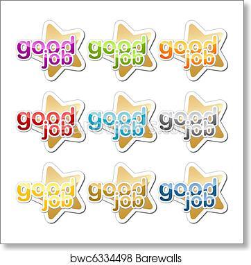 art print of good job motivation sticker