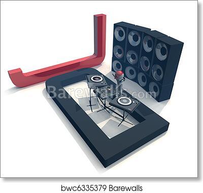 Art Print Of DJ Equipment