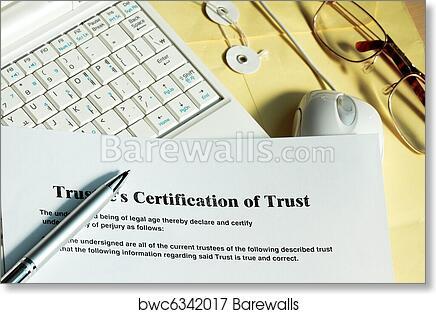Art Print of Certificate of trust | Barewalls Posters & Prints ...