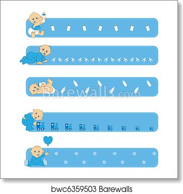 art print of banners baby boy barewalls posters prints bwc6359503