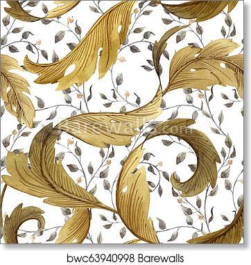 Modern Art Nouveau Tiffany pattern art print poster
