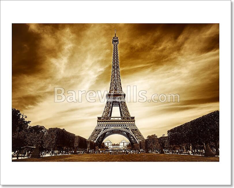 Eiffel Tower In Paris - 1 Art Print/Canvas Print Home Decor Wall Art ...