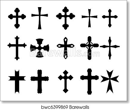 Cross Symbols Art Print Poster