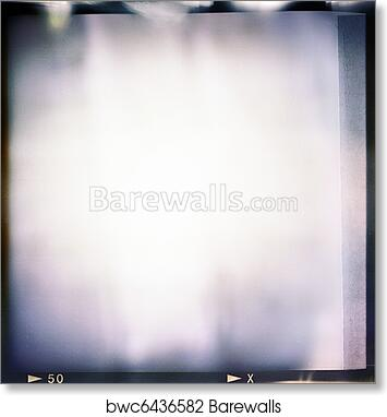 Art Print of Blank medium format (6x6) color film frame with ...